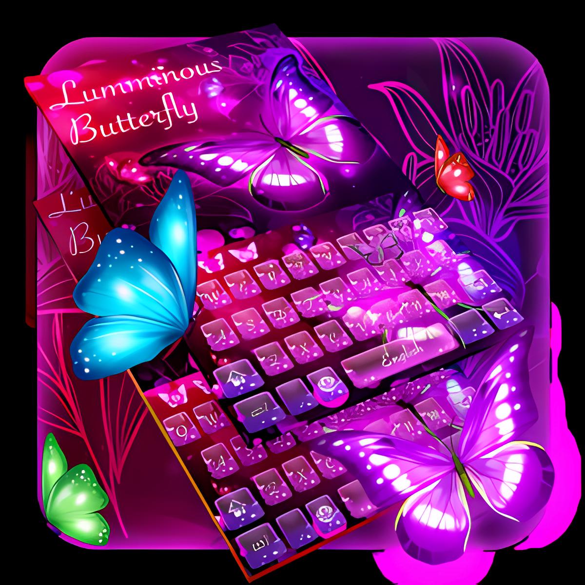 Luminous butterfly keyboard 10001003