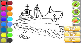 Ship Coloring Book