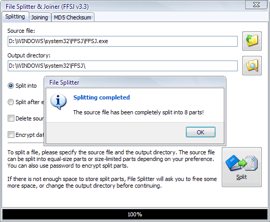 File Splitter and Joiner