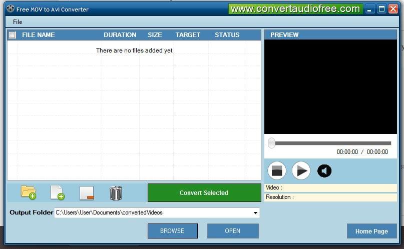 Free MOV to AVI Converter