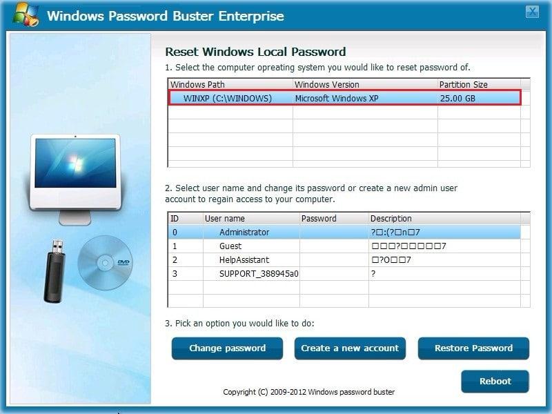 Windows Password Buster Standard