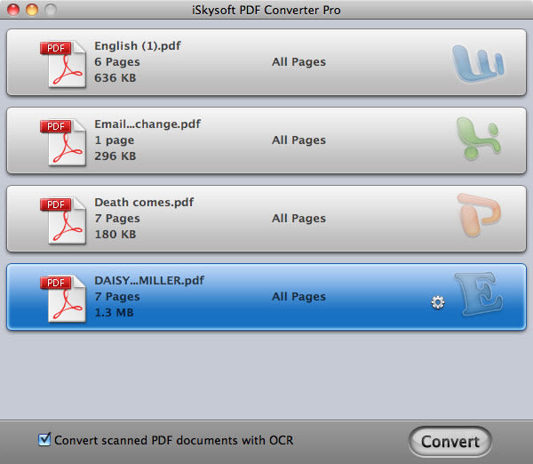 iSkysoft PDF Converter Pro for Mac
