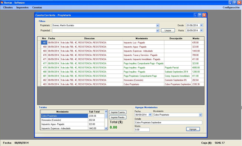 Rentas Software