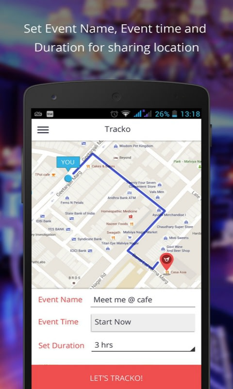 Tracko-Linking People & Places