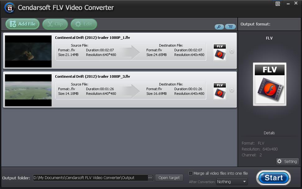 Cendarsoft FLV Video Converter