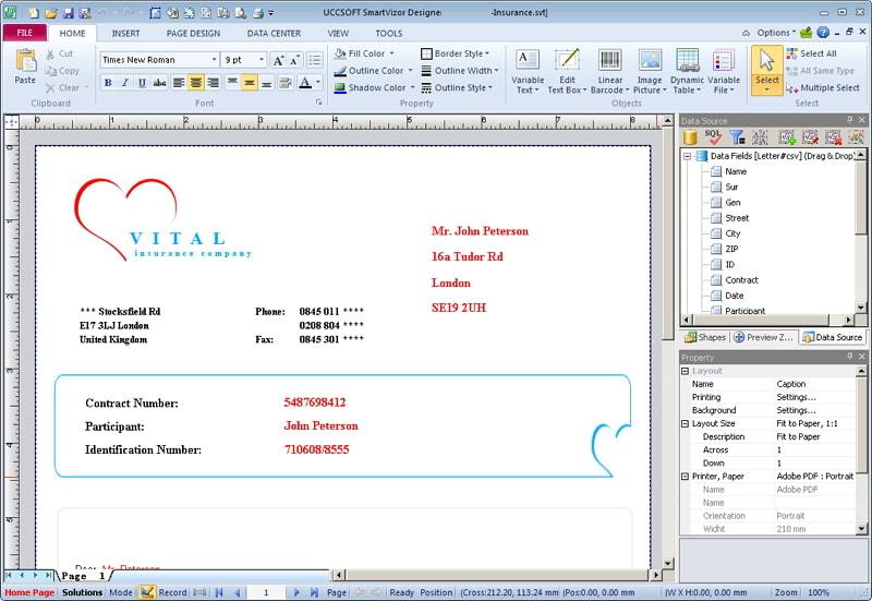 SmartVizor Variable Data Printing Software  V12.1