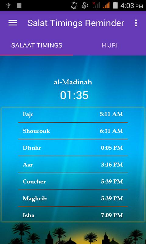 Prayer Times - Salaat Alarms