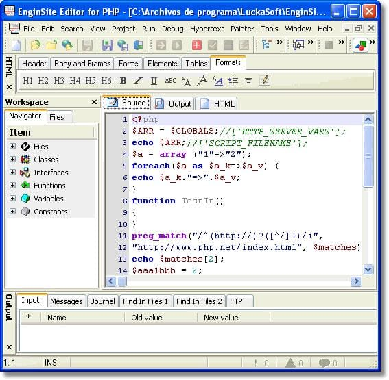EngInSite Editor for PHP