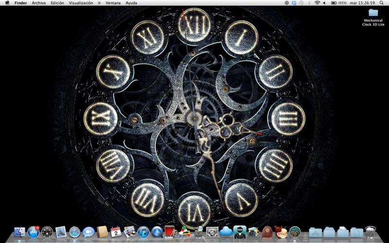 Fondos De Escritorio Con Movimiento: Mechanical Clock 3D Lite Para Mac