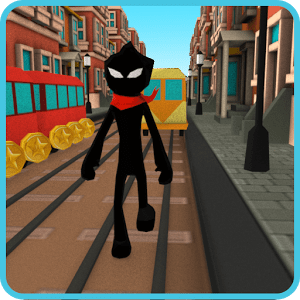 Stickman Subway Runner - City Surf