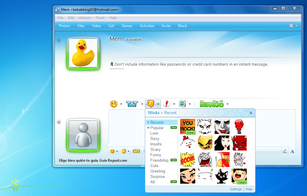 Windows live messenger adult emoticons can help