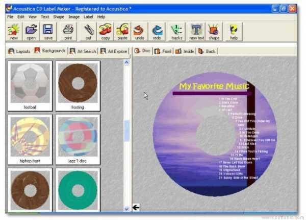 Acoustica CD/DVD Label Maker