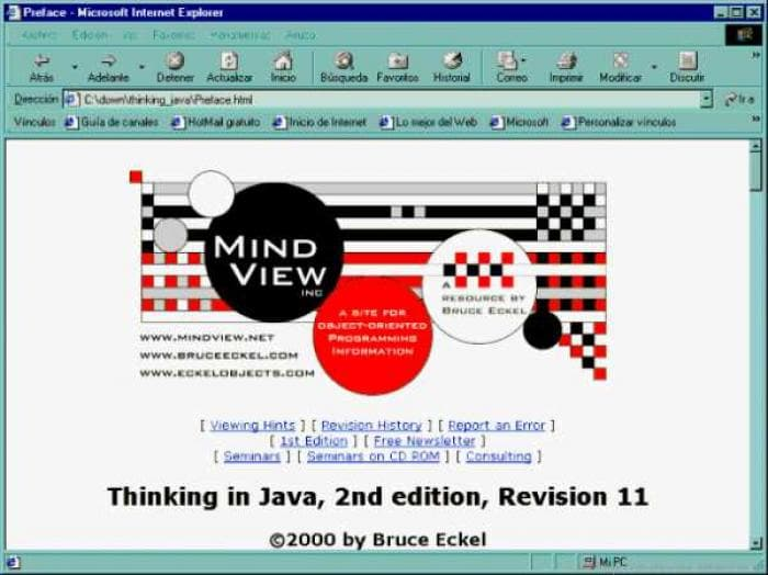 Thinking in Java, 2nd edition (HTML)