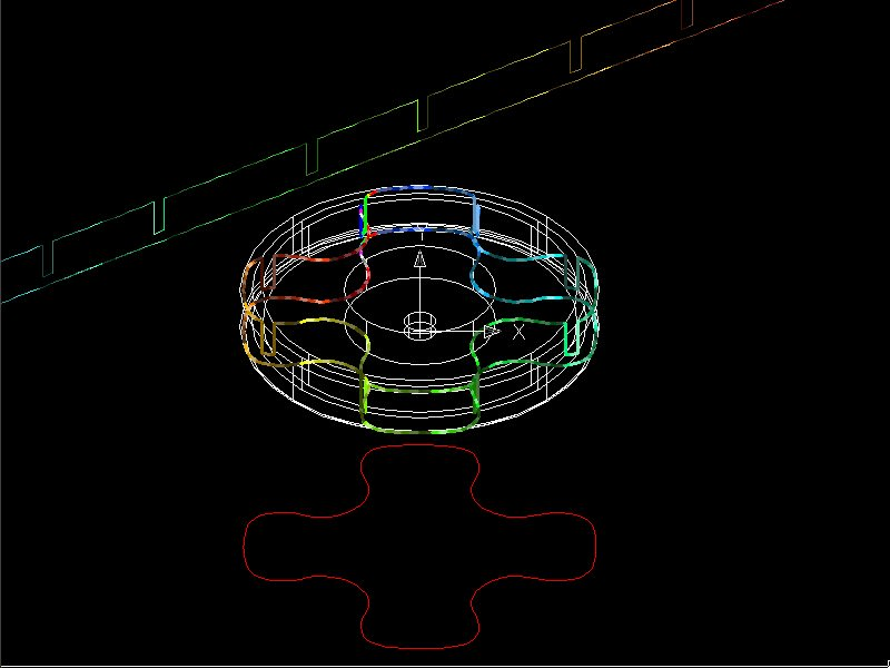 DEVELOPED SECTION for AutoCAD