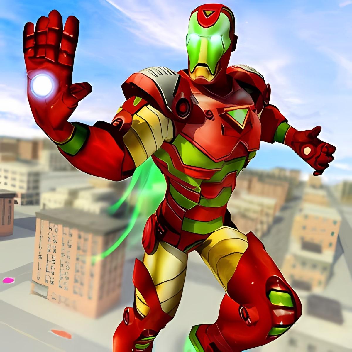 Flying Robot Superhero: Crime City Rescue