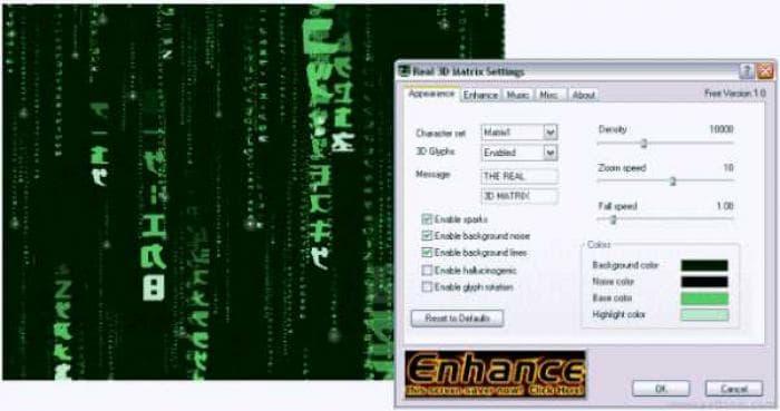 Real 3D Matrix Screensaver