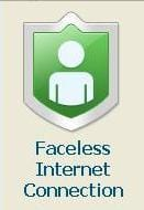 Faceless Faceless Internet Connection