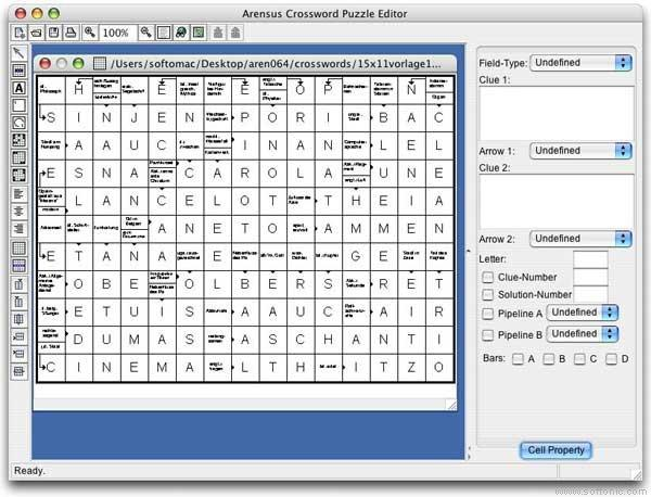 Arensus Crossword Puzzle Editor