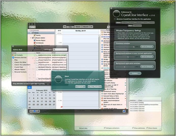 CrystalClear Interface