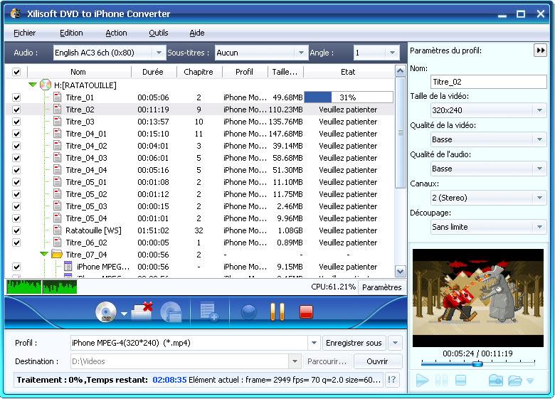 Xilisoft DVD pour iPhone Convertisseur