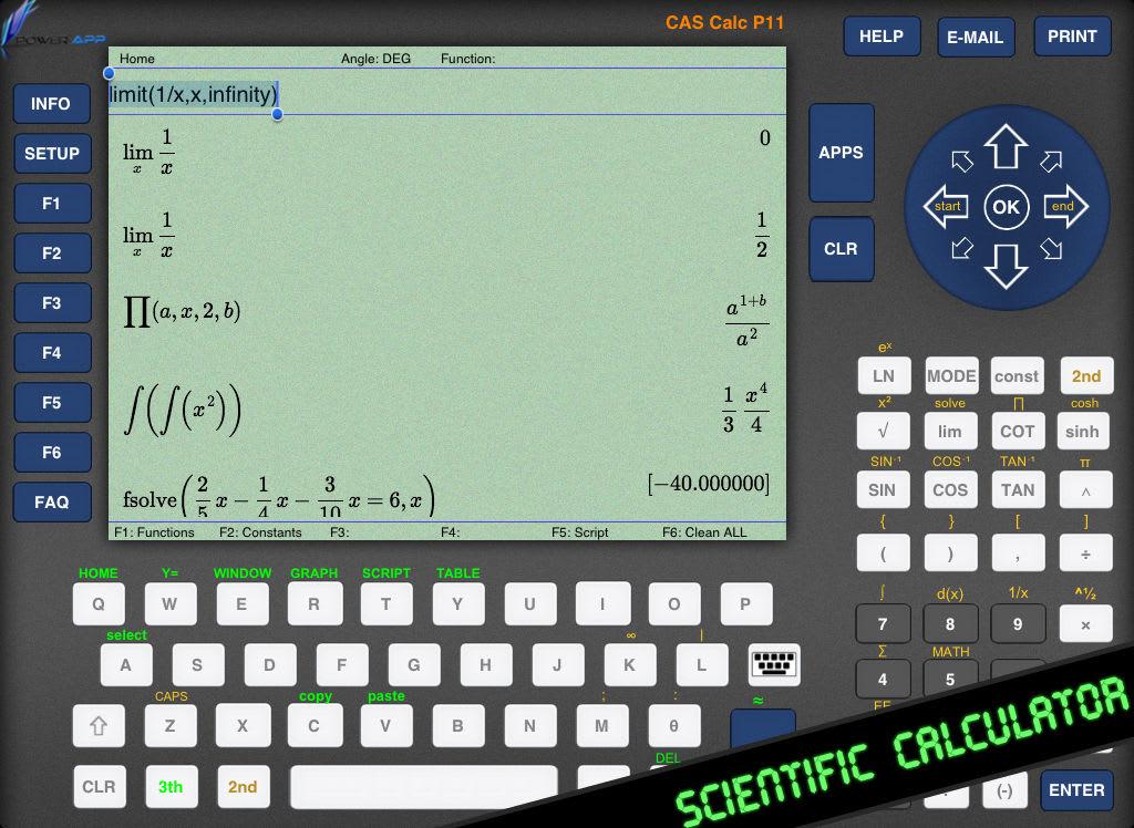 CAS Calc P11 - Calculadora gráfica científica