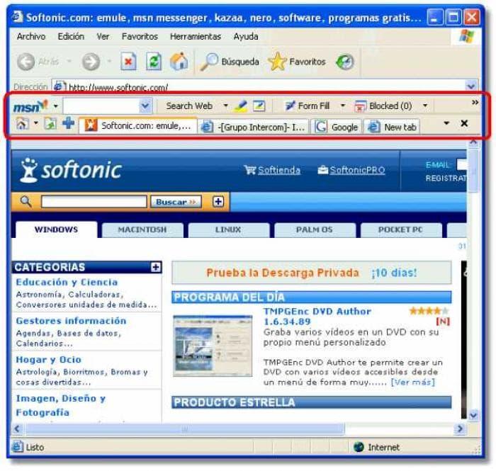 Descargar MSN Search Toolbar Gratis