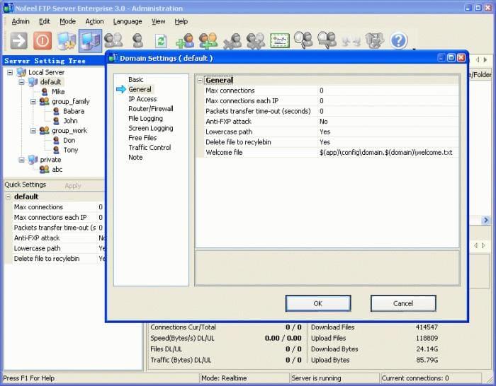 Nofeel FTP Server