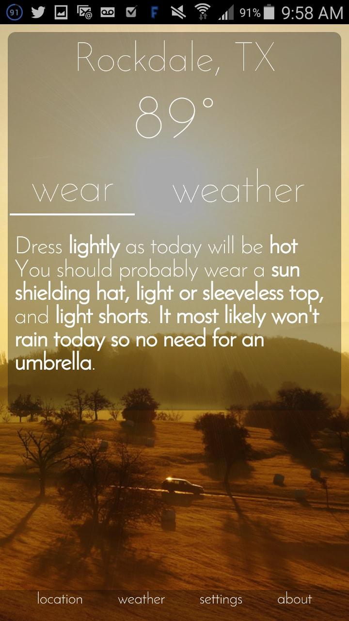 Wear Weather