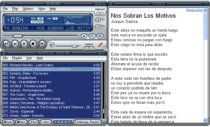 Lyrics Plugin for Winamp