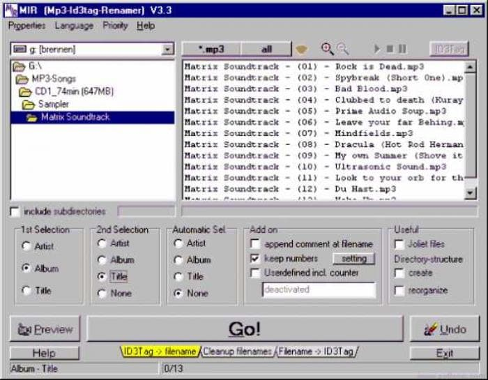 MP3 ID3Tag Renamer