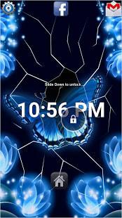 Blue Butterflies Lock Screen