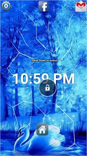 Blue Swan Forest Lock Screen
