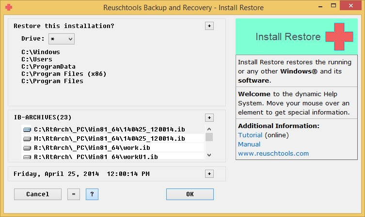 Reuschtools Backup and Recovery