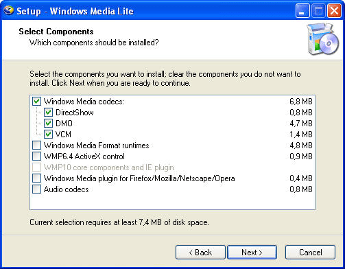 Windows Media Lite