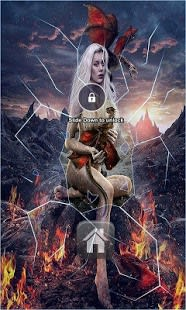 Fire Girl Lock Screen