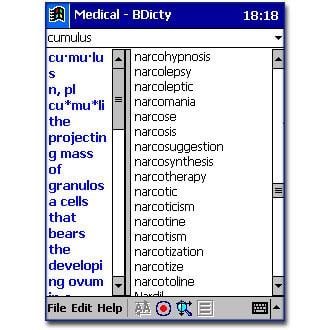 Browse to Medical Dictionary