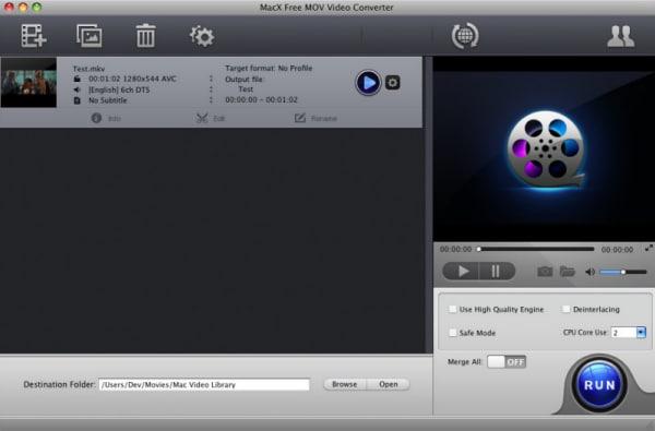 MacX Free MOV Video Converter