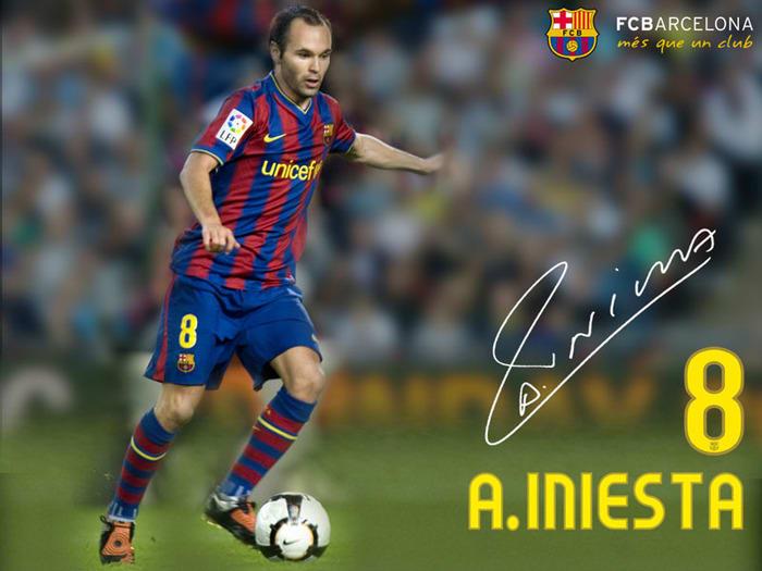 FC Barcelona Andrés Iniesta Wallpaper