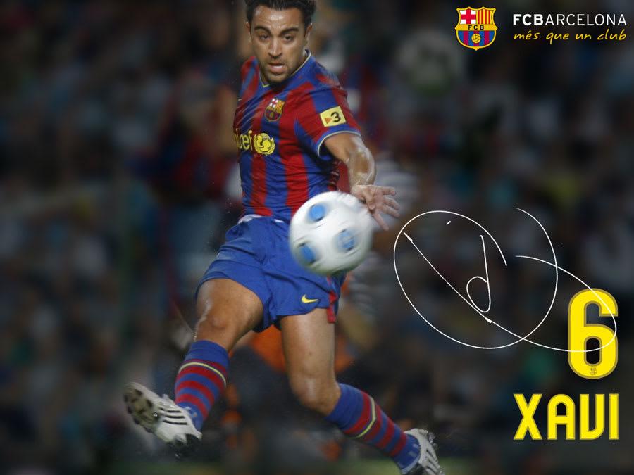 FC Barcelona Xavi Wallpaper