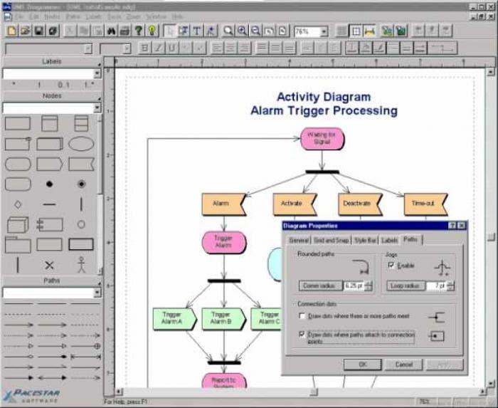 Pacestar UML Diagrammer