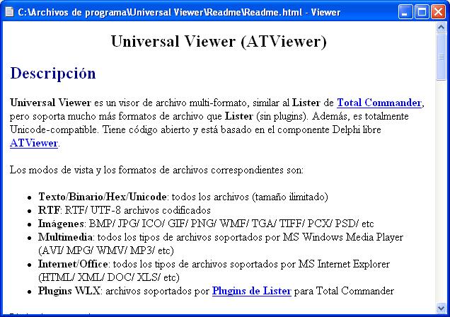 Universal Viewer