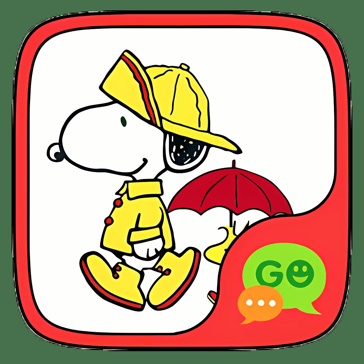 (FREE) GO SMS SNOOPY THEME 1.1