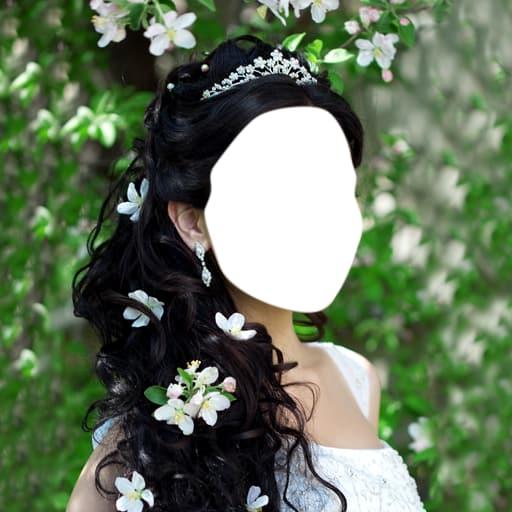 Wedding Hairstyle Photo Montage