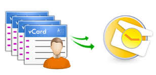 Transfer vCards Contacts To Outlook
