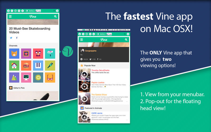 App for Vine - Menu Tab