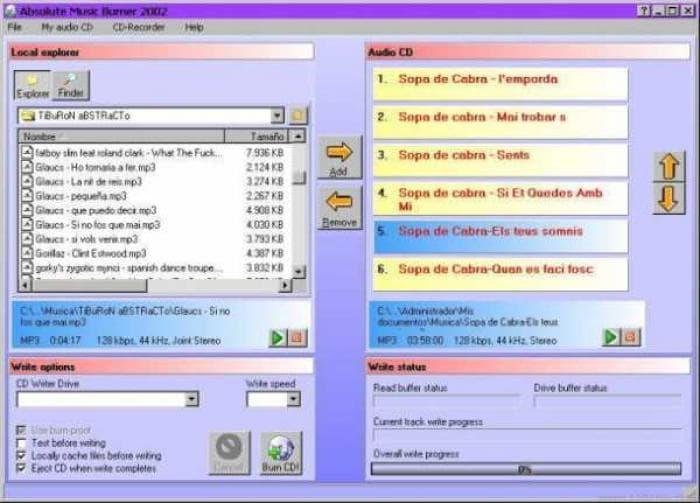 Absolute Music Burner 2002