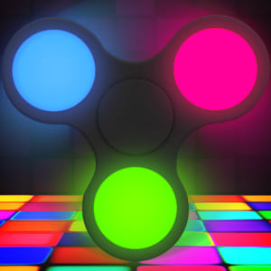 Fidget Spinner  Neon Disco Glow The floor is lava