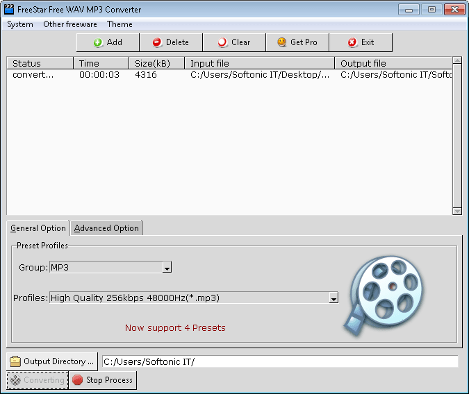 FreeStar Free WAV MP3 Converter