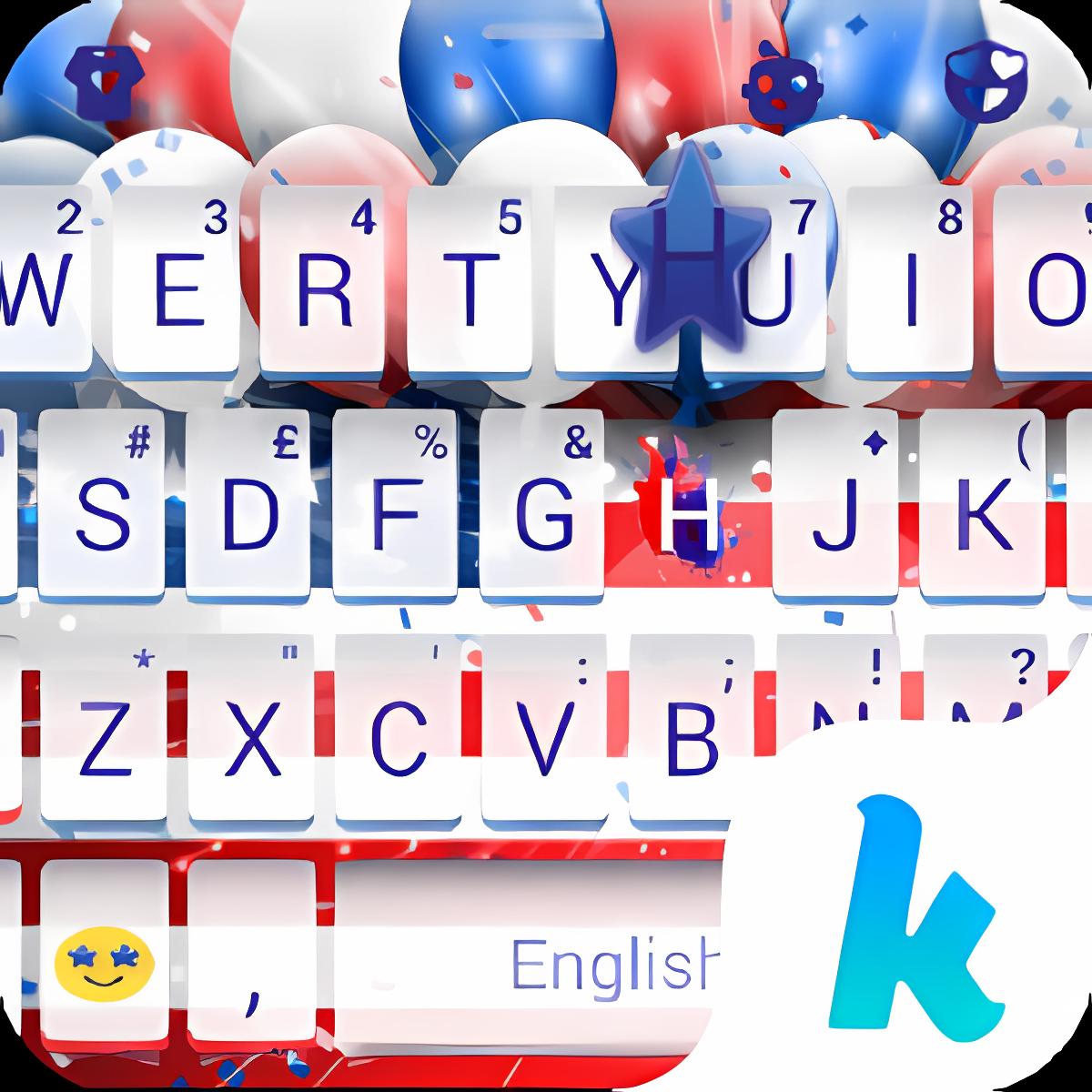 Keyboard - 4th of July New Free Theme