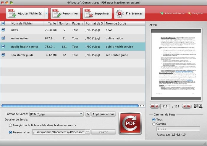 4Videosoft Convertisseur PDF pour Mac